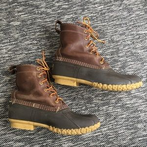 "L.L. Bean Iconic Duck Boot Dark Ash 8"" 9"